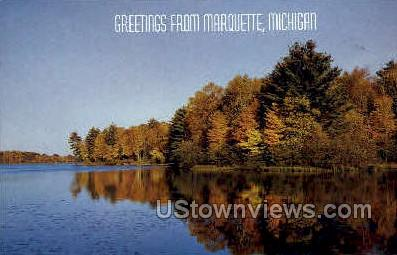 Greetings from Marquette - Michigan MI Postcard