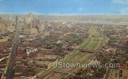 John Lodge Expressway - Detroit, Michigan MI Postcard