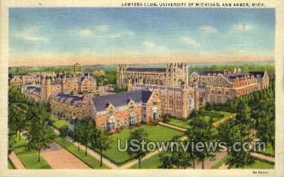Lawyers Club - Ann Arbor, Michigan MI Postcard