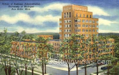 School of Business Administration - Ann Arbor, Michigan MI Postcard