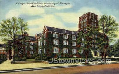 Michigan Union Building - Ann Arbor Postcard
