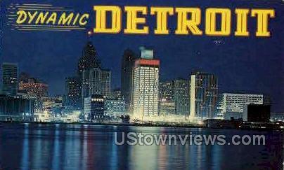 Dynamic Detroit - Michigan MI Postcard