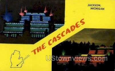 The Cascades - Jackson, Michigan MI Postcard