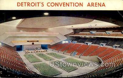 Detroit's Convention Arena - Michigan MI Postcard