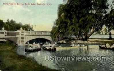 Picturesque Scene - Detroit, Michigan MI Postcard