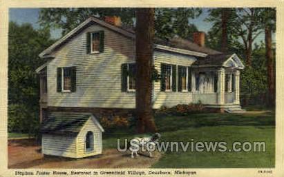 Stephen Foster House - Dearborn, Michigan MI Postcard