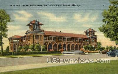 Belle Isle Casino - Detroit, Michigan MI Postcard