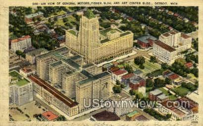Air View of General Motors - Detroit, Michigan MI Postcard
