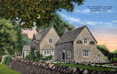 Cotswold Cottage - Dearborn, Michigan MI Postcard