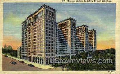 General Motors Building - Detroit, Michigan MI Postcard