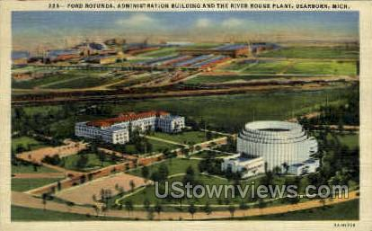 Ford Rotunda Administration - Dearborn, Michigan MI Postcard