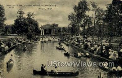 Canal, Belle Isle - Detroit, Michigan MI Postcard