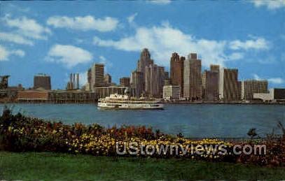The S. S. Ste. Claire - Detroit, Michigan MI Postcard