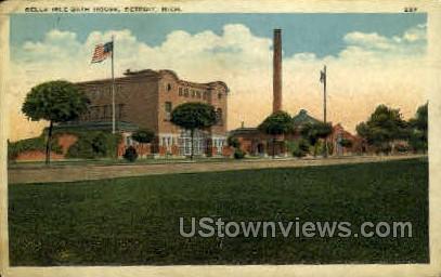 Belle Isle Bath House - Detroit, Michigan MI Postcard