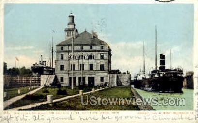 The Locks - Sault Ste Marie, Michigan MI Postcard