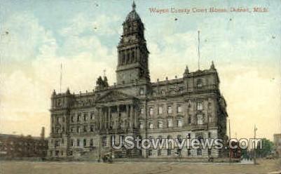 Wayne County Court House - Detroit, Michigan MI Postcard