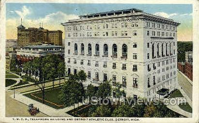 Y.M.C.A. Telephone Bldg. - Detroit, Michigan MI Postcard