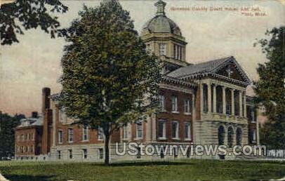 Genesee County Court House & Jail - Flint, Michigan MI Postcard