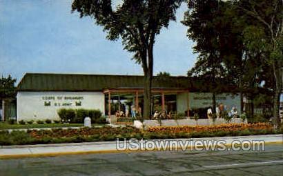 Information Center, Soo Locks - Sault Ste Marie, Michigan MI Postcard