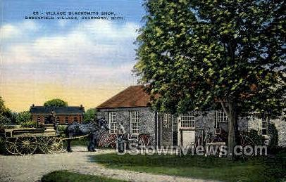Village Blacksmith Shop - Dearborn, Michigan MI Postcard