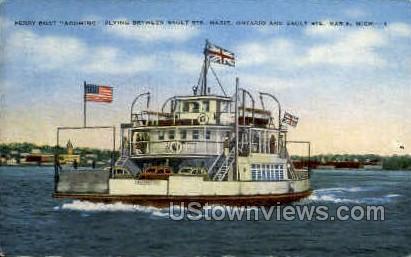 Ferry Boat Agoming - Sault Ste Marie, Michigan MI Postcard