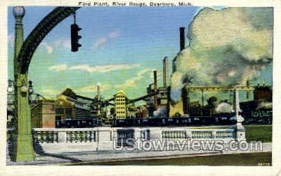 Ford Plant - Dearborn, Michigan MI Postcard