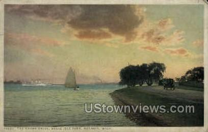 The Shore Drive - Detroit, Michigan MI Postcard