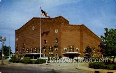I.M.A. Auditorium - Flint, Michigan MI Postcard