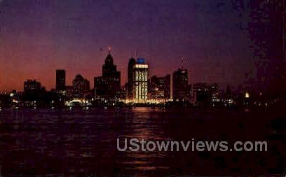 Skyline  - Detroit, Michigan MI Postcard