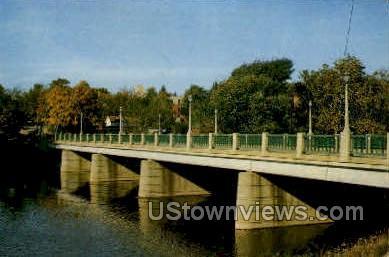 Broadway Bridge - Niles, Michigan MI Postcard