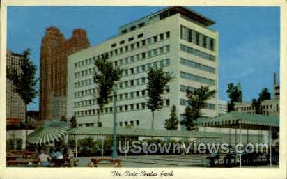 Civic Center Park - Detroit, Michigan MI Postcard