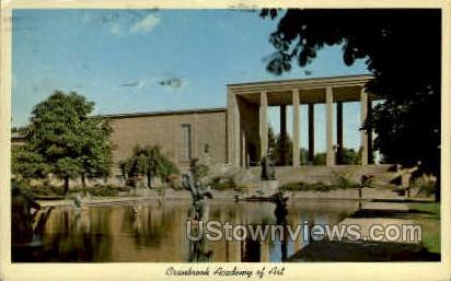 Cranbrook Academy of Art - Detroit, Michigan MI Postcard