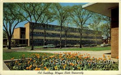 Art Bldg., Wayne State University - Detroit, Michigan MI Postcard