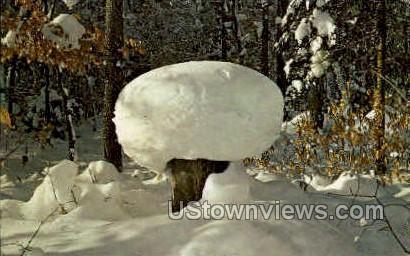 Snow Sculpture by Mother Nature - MIsc, Michigan MI Postcard