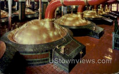 Fire Brewing Kettles, Stroh Brewery Co. - Detroit, Michigan MI Postcard