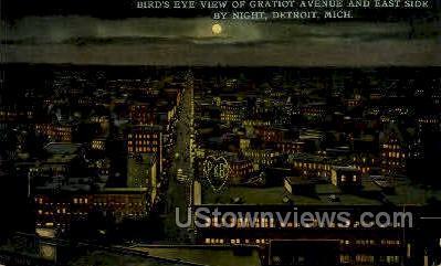 Gratiot Ave. & East Side - Detroit, Michigan MI Postcard