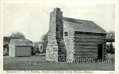 Birthplace of Dr. W.H. McGuffey - Dearborn, Michigan MI Postcard