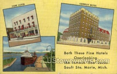 Hotels - Sault Ste Marie, Michigan MI Postcard