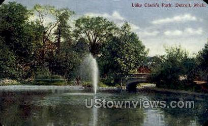 Lake Clarks Park - Detroit, Michigan MI Postcard