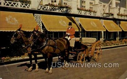 Private Carriage - Mackinac Island, Michigan MI Postcard