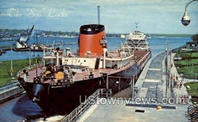 The Tom M. Girdler - Sault Ste Marie, Michigan MI Postcard