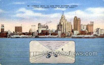 Detroit, Michigan, MI Postcard