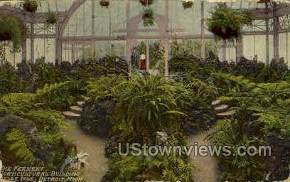 The Fernery, Horticultural Bldg. - Detroit, Michigan MI Postcard