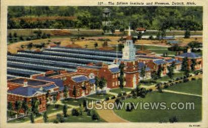 The Edison Institute & Museum - Detroit, Michigan MI Postcard
