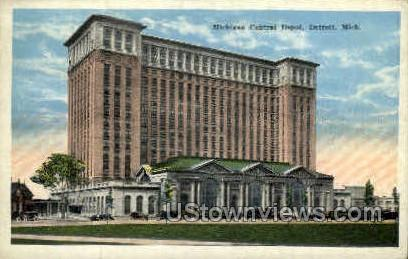 Michigan Central Depot - Detroit Postcard
