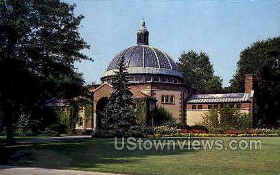 Bird House in Zoological Park - Royal Oak, Michigan MI Postcard