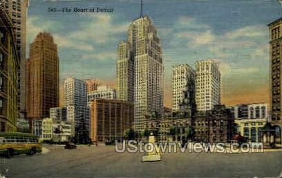 Heart of Detroit - Michigan MI Postcard