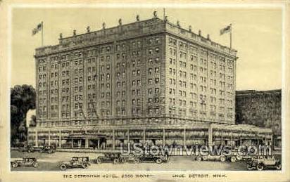 The Detroiter Hotel - Michigan MI Postcard