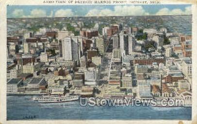 Detroit Harbor Front - Michigan MI Postcard