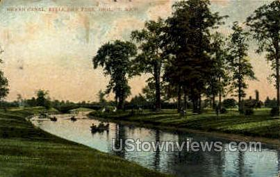 Grand Canal - Detroit, Michigan MI Postcard